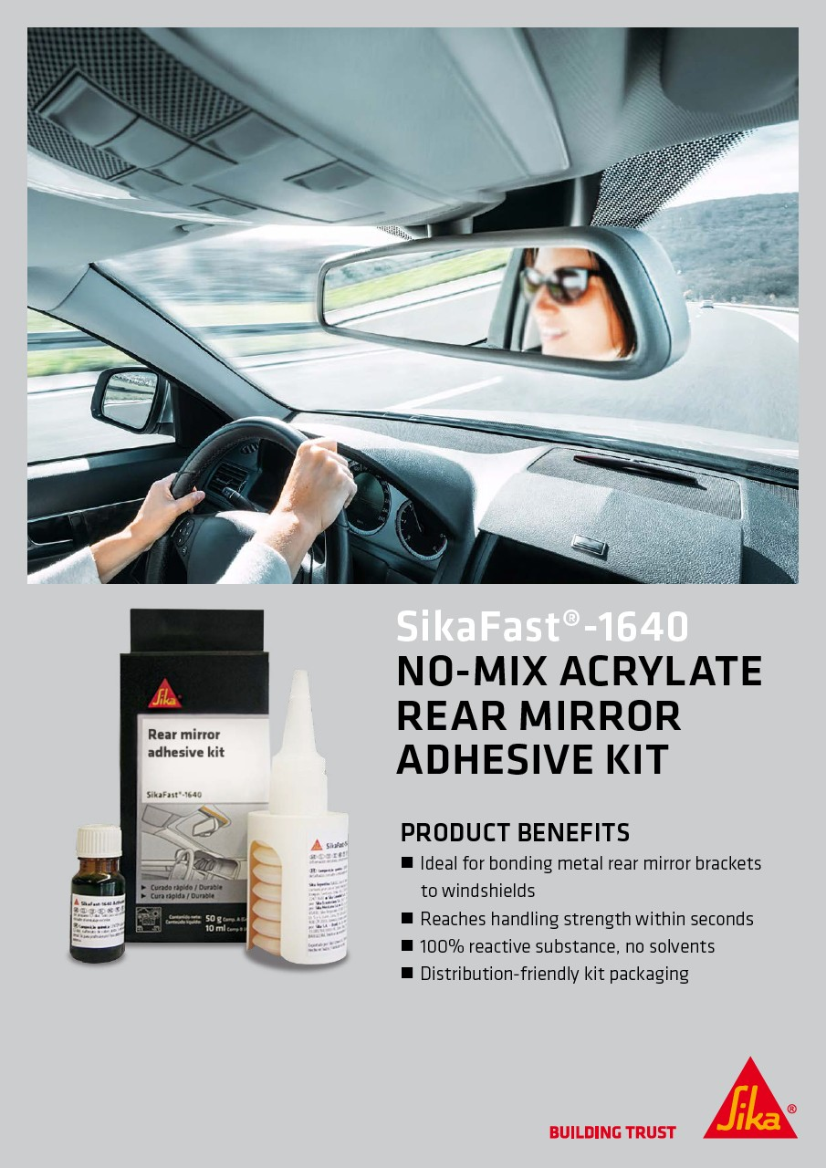 SikaFast®-1640 - No-Mix Acrylate Rear Mirror Adhesive Kit